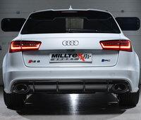 Milltek Выхлоп катбэк с резонатором и глушителем для Audi RS6/RS7 C7 4.0T