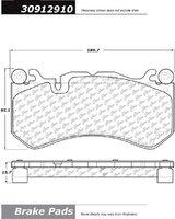 STOPTECH Комплект тормозных колодок (перед) для Audi RS6 / RS7 (C7) (чугун)