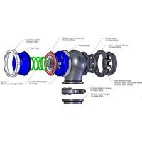 Turbosmart Hypergate 45 external wastegate (blue) TS-0506-1040